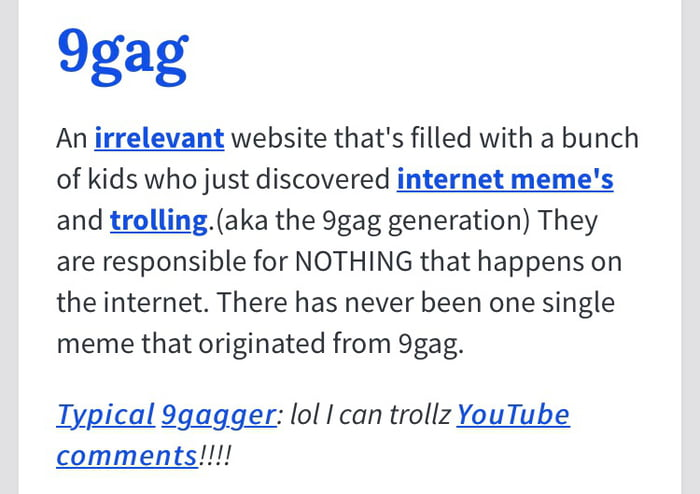 search 9gag on urban dictionary thank me later 9gag
