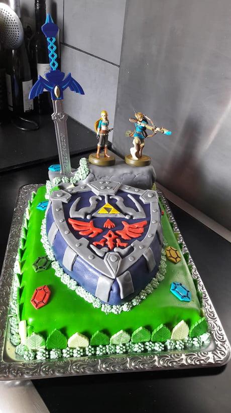 Excellent My Wifes Sister Birthday Cake As A Zelda Fan Im Jealous As F Funny Birthday Cards Online Elaedamsfinfo