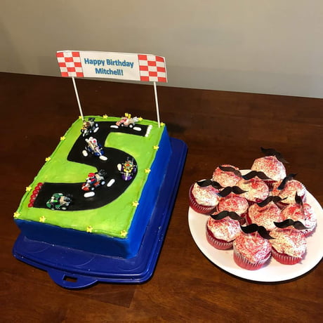 Peachy My Friends Nephews Mario Kart Birthday Cake 9Gag Personalised Birthday Cards Sponlily Jamesorg