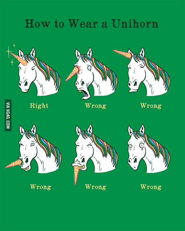 How to wear a unihorn