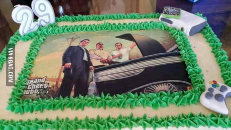 Amazing My Gta 5 Birthday Cake 9Gag Funny Birthday Cards Online Aboleapandamsfinfo