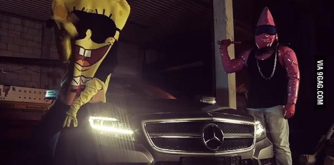 spongebozz doing battle rap together w patrick bang in front of cars and airplanes germany. Black Bedroom Furniture Sets. Home Design Ideas