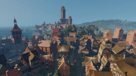 Novigrad. Where the eternal fire church get rich from the misery ...