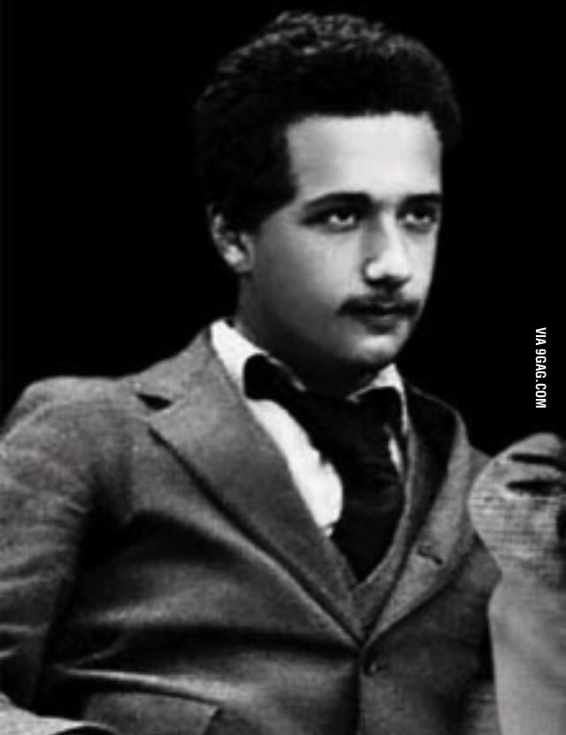 Young Albert Einstein ...