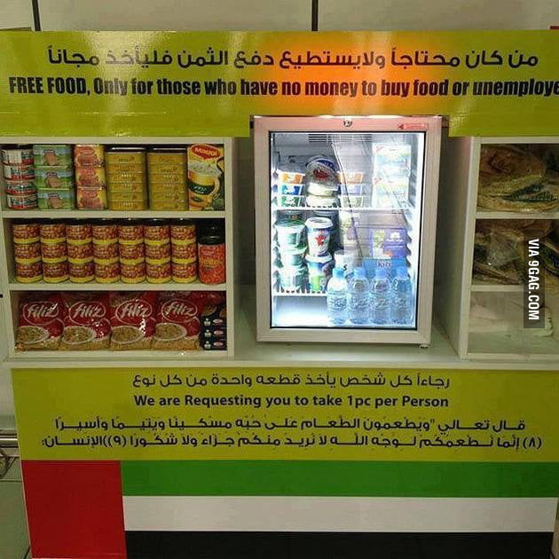Image result for free food for no money people in dubai