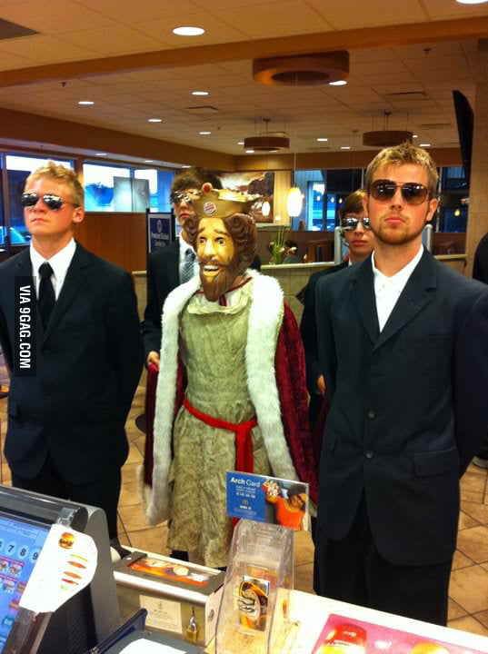The Burger King visits the McPalace