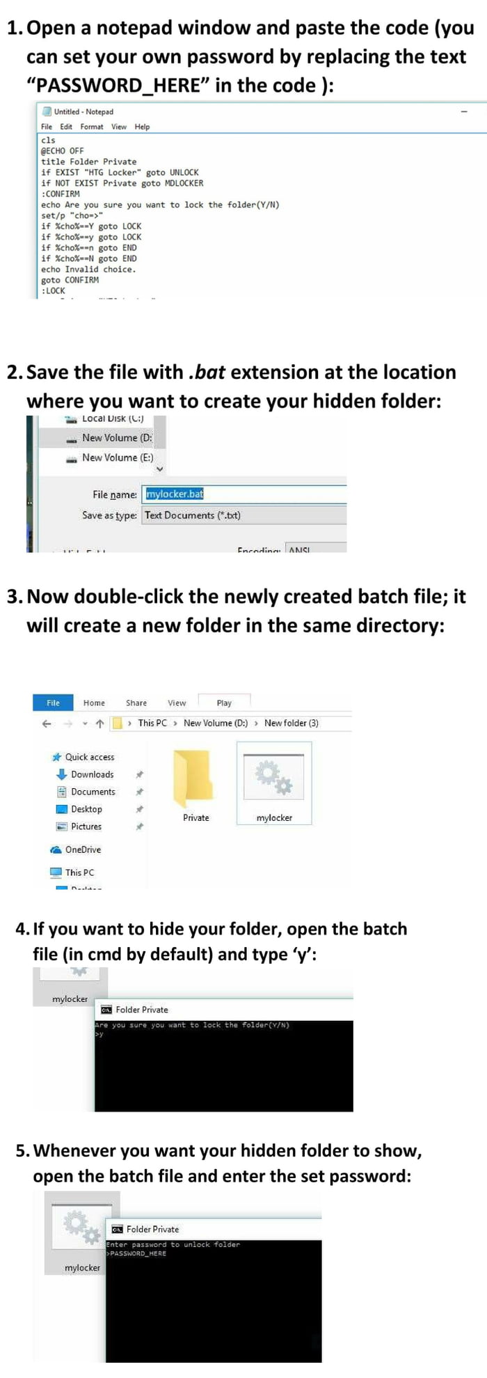 To the hacker OP who was hiding folder using cmd, here is how to