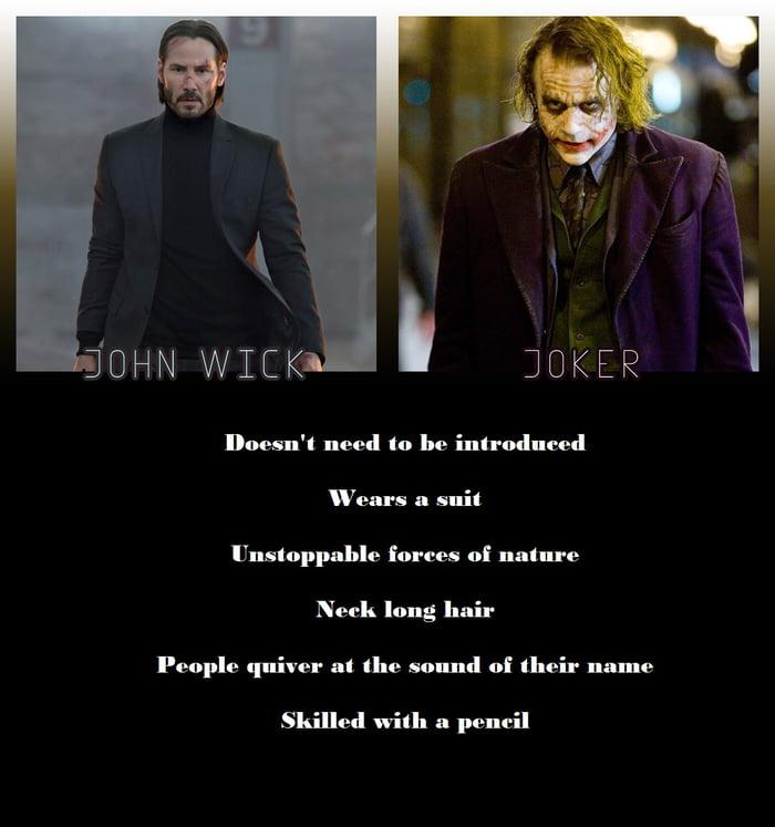 John Wick And Joker Similarities 9gag