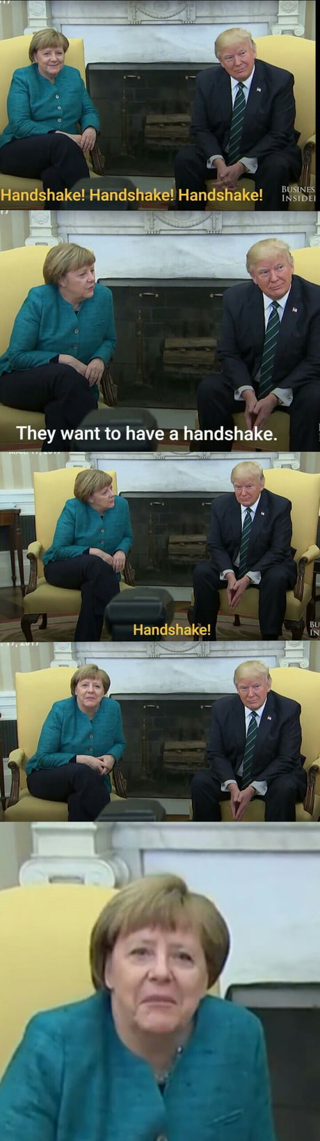 When you met your favorite politician but he don't want to handshake :(