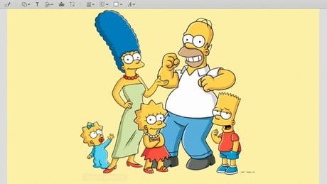 Marge and Lisa Simpson have almost exactly the same face