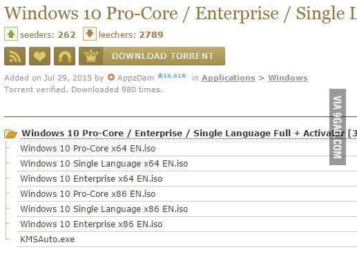 torrent windows 10 pro iso