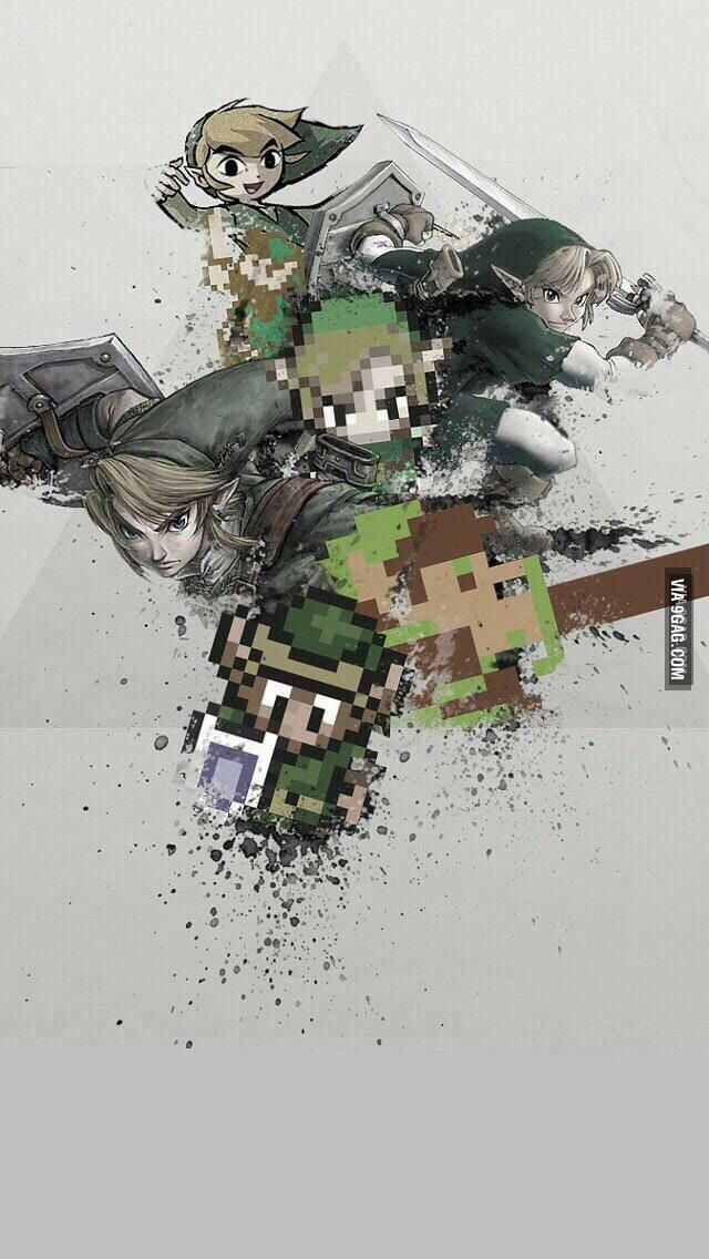 The Many Links Of Zelda Phone Wallpaper 9gag