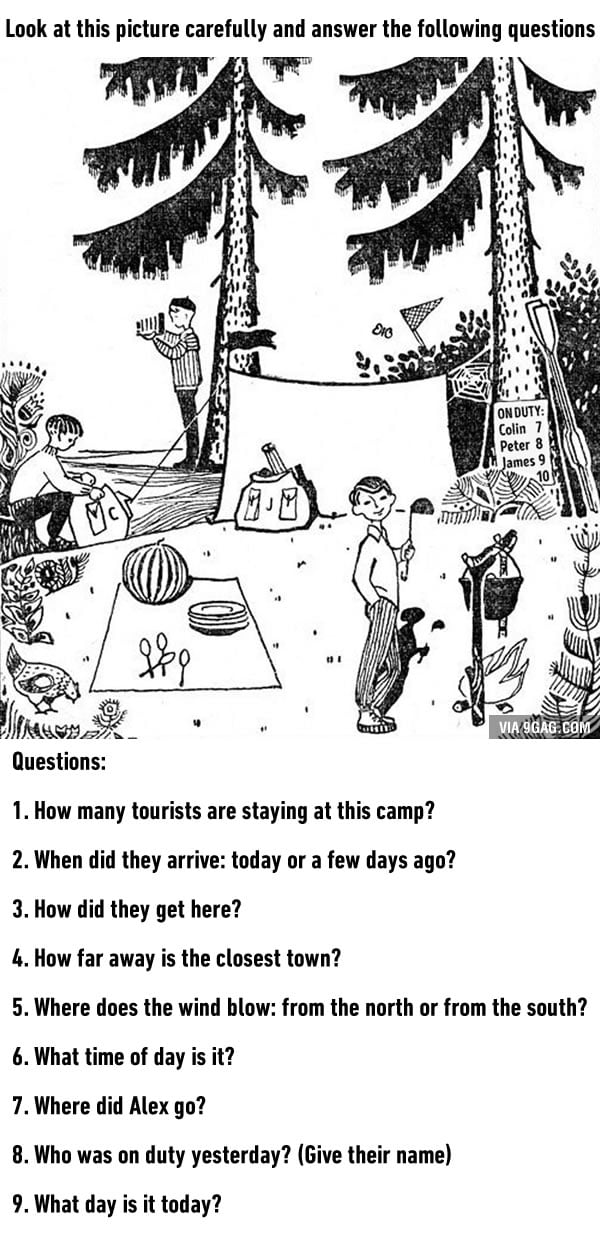 How good is your logic and attention to detail? Try this test. - 9GAG