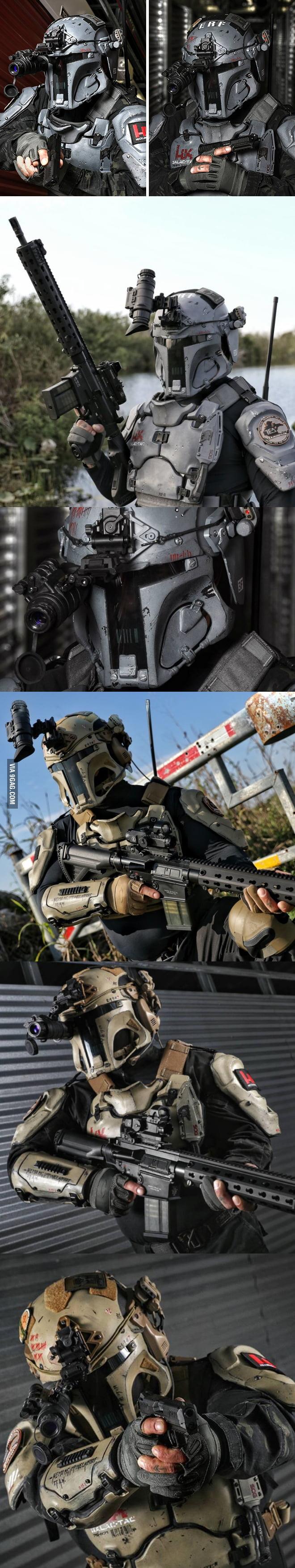 Ballistic Armor Maker AR500 and H&K Produce Real Life Boba
