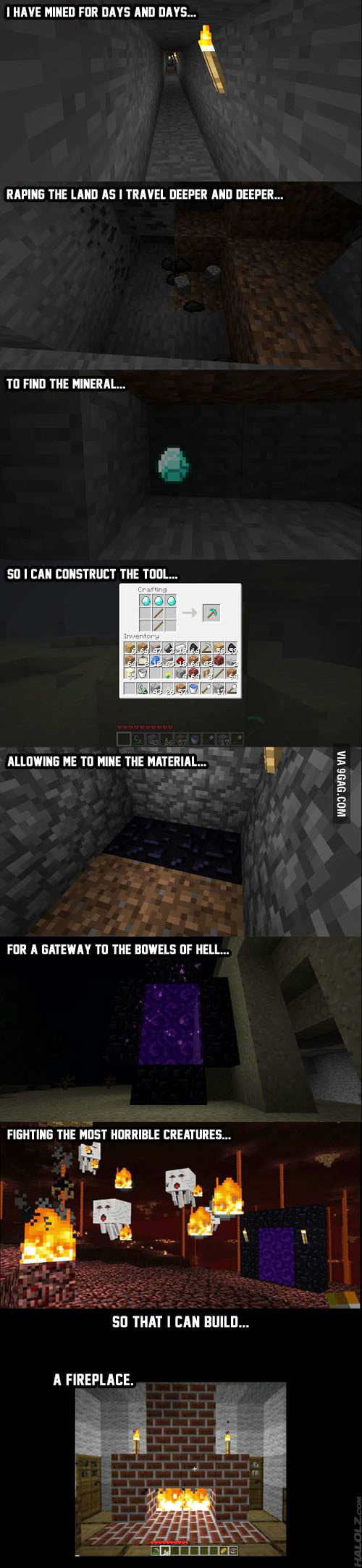 My minecraft journey