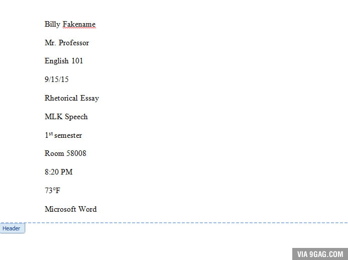 When you gotta make a header for a 30 page essay. - 9GAG