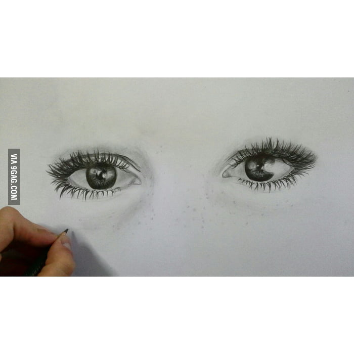 my drawing a pair of eyes dedicated to the ones who said to me