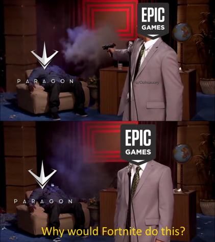 Actually Tencent bought shares in Epic Games, and shut down