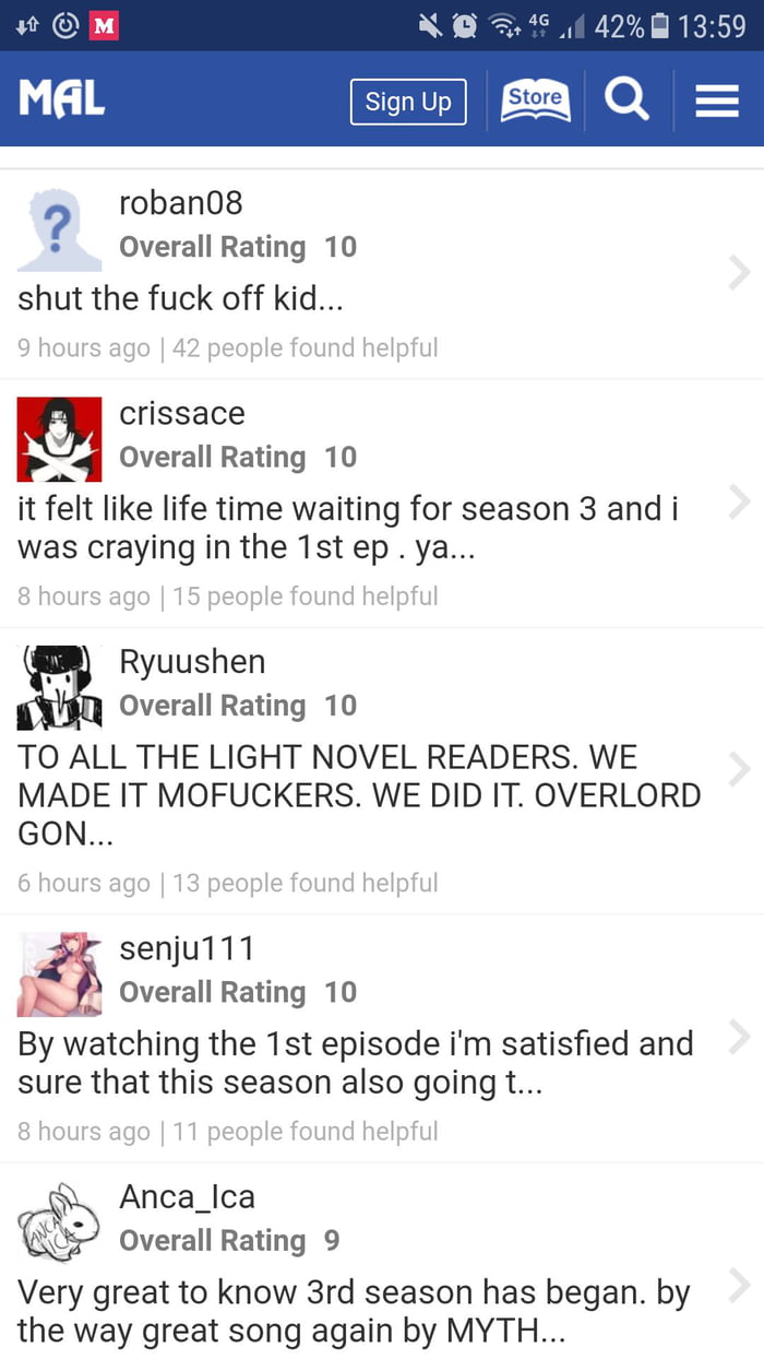 Can you believe it? 1st episode of overlord s3 got nice review - 9GAG