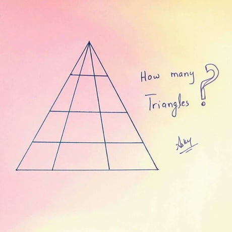 This Basic Geometry Question Is Driving The Internet Insane. How many triangles are there