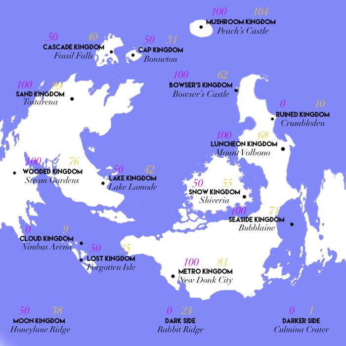 super mario odyssey world map