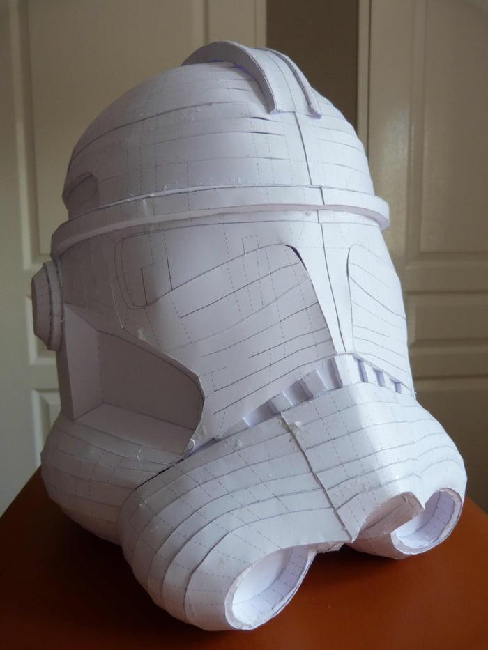 Pepakura Clone Trooper helmet  Still needs to be covered