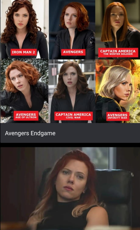 Black Widow S Hair Has Gotten Lighter In Each Movie As She