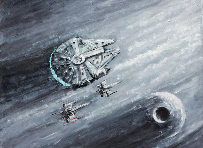 Millennium Falcon Fan Art Print by Naci Caba