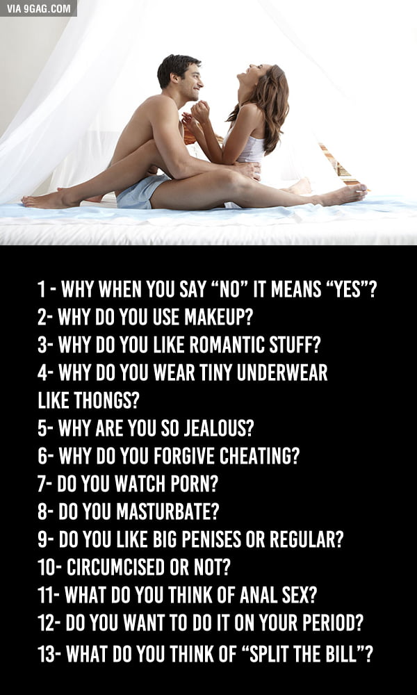 Questions guys have for girls