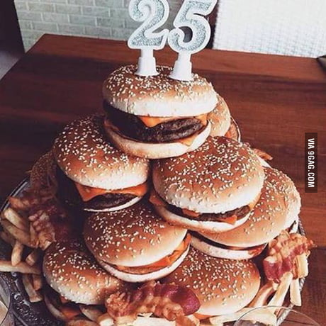 Stupendous The Only Birthday Cake I Need Are Burgers 9Gag Funny Birthday Cards Online Inifofree Goldxyz