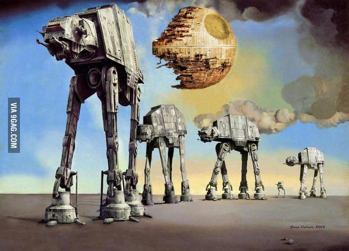 Salvador Dali vs. Star Wars (Artwork by Juan Cairos). - 9GAG