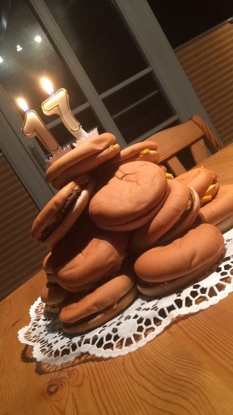 """A Cheeseburger """"Cake"""""""