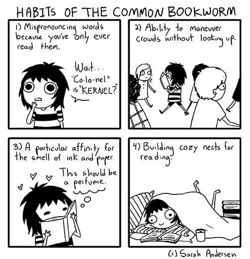The Habits of the Common Bookworm