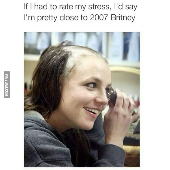 Funny Work Stress Meme : Stress level britney spears gag