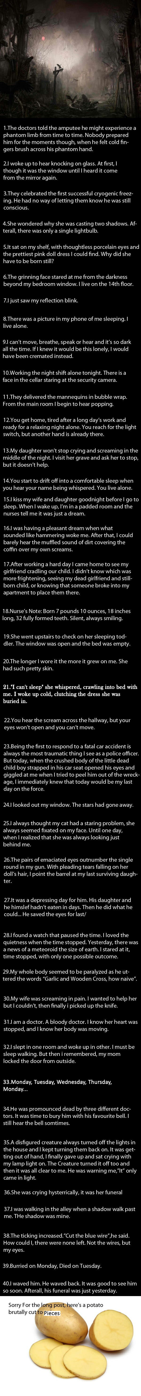 40 Short Scary Stories  - 9GAG