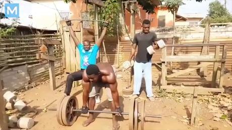 African men training in DIY Gym