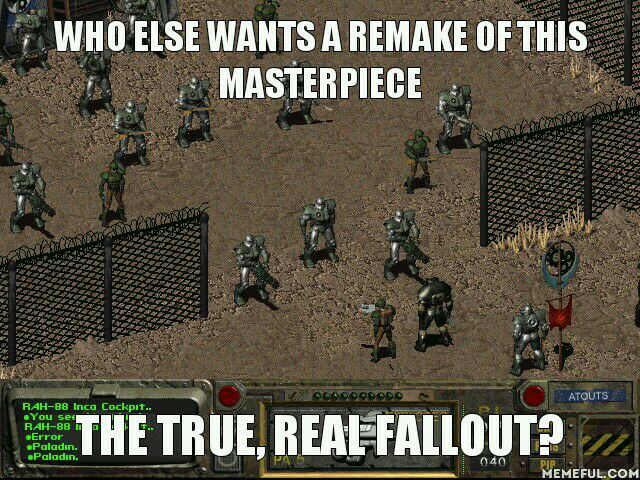 UE4 graphics + Fallout 2 content and I'm sold  - 9GAG