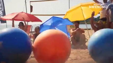 Yoga Balls on Beach
