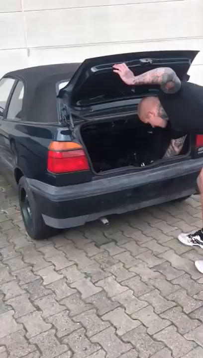 Putting an oversized firecracker in your car trunk,what could go wrong