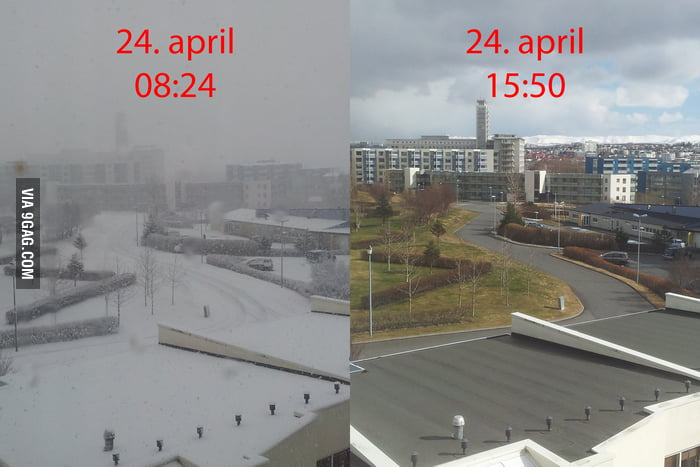 Dear Europeans complaining about spring, I give you Iceland in a nutshell...