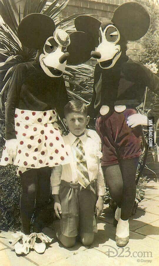 Mickey and Minnie in the 1930's.