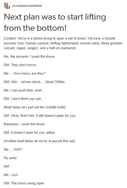 How to open a door DnD story #7  sc 1 st  9Gag & How to open a door DnD story #7 - 9GAG