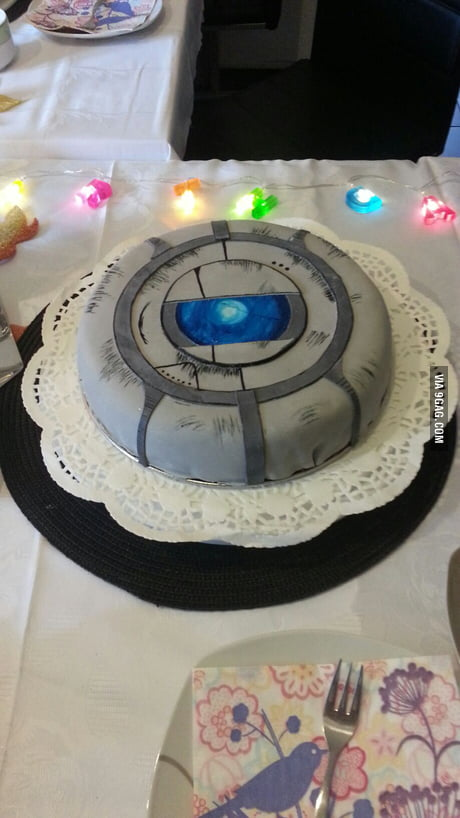 Super Portal 2 Wheatley Cake For My Birthday What Do You Guys Think 9Gag Personalised Birthday Cards Veneteletsinfo