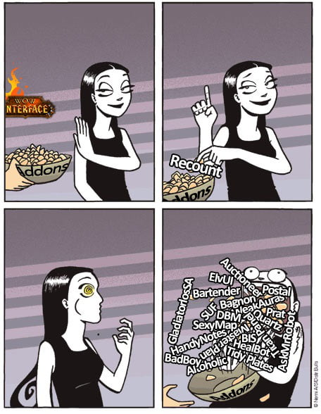My relationship with addons for WoW - 9GAG