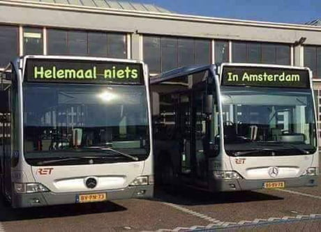 Bus drivers in Rotterdam right now.