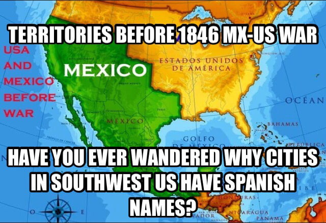 Map Of MXUS Before MexicanAmerican War Less Than Years - Map of the us before the mexican american war