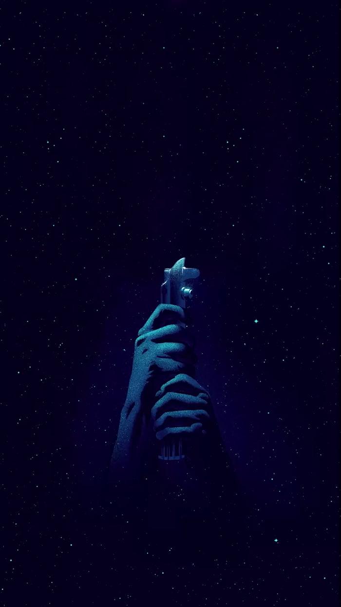 Star Wars Live Wallpaper Iphone Light Saber Blue 9gag