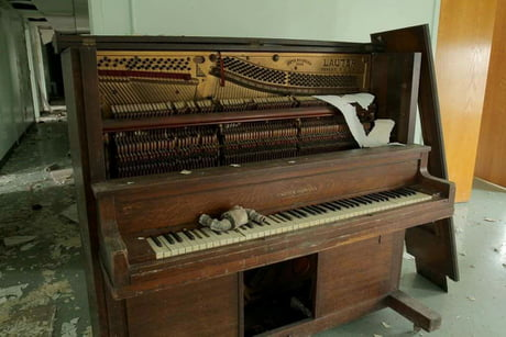 Abandoned piano in an orphanage - Novoanniskij, Russia