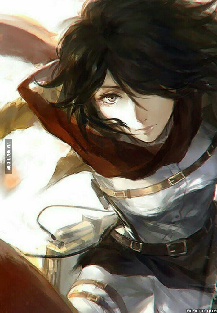 Can T Stop Watching This Badasss Mikasa Wallpaper On My Phone Love Her 9gag
