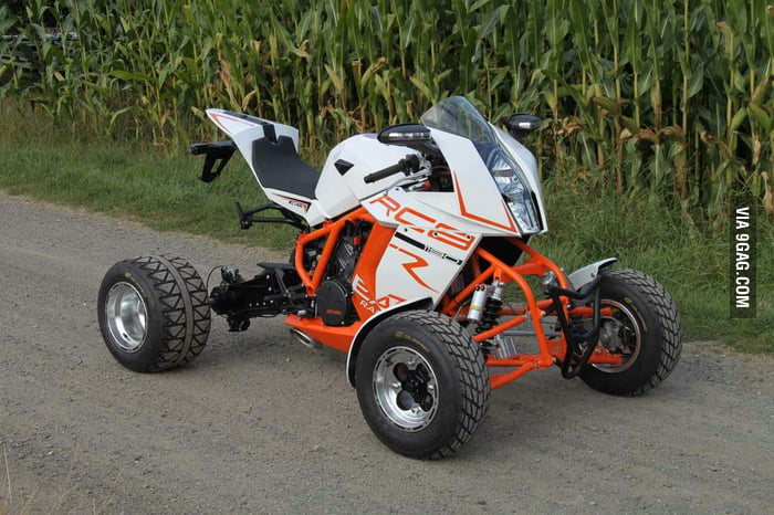 this is the world 39 s fastest quad built on a ktm rc8 9gag. Black Bedroom Furniture Sets. Home Design Ideas